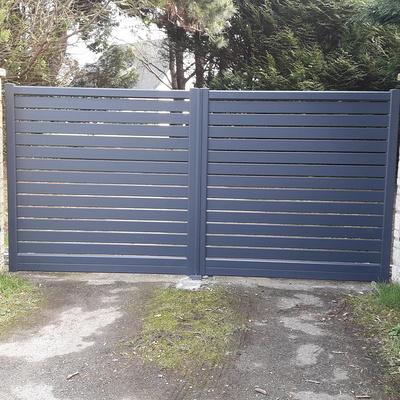 Pose d''un portail électrique en aluminium à Fréhel
