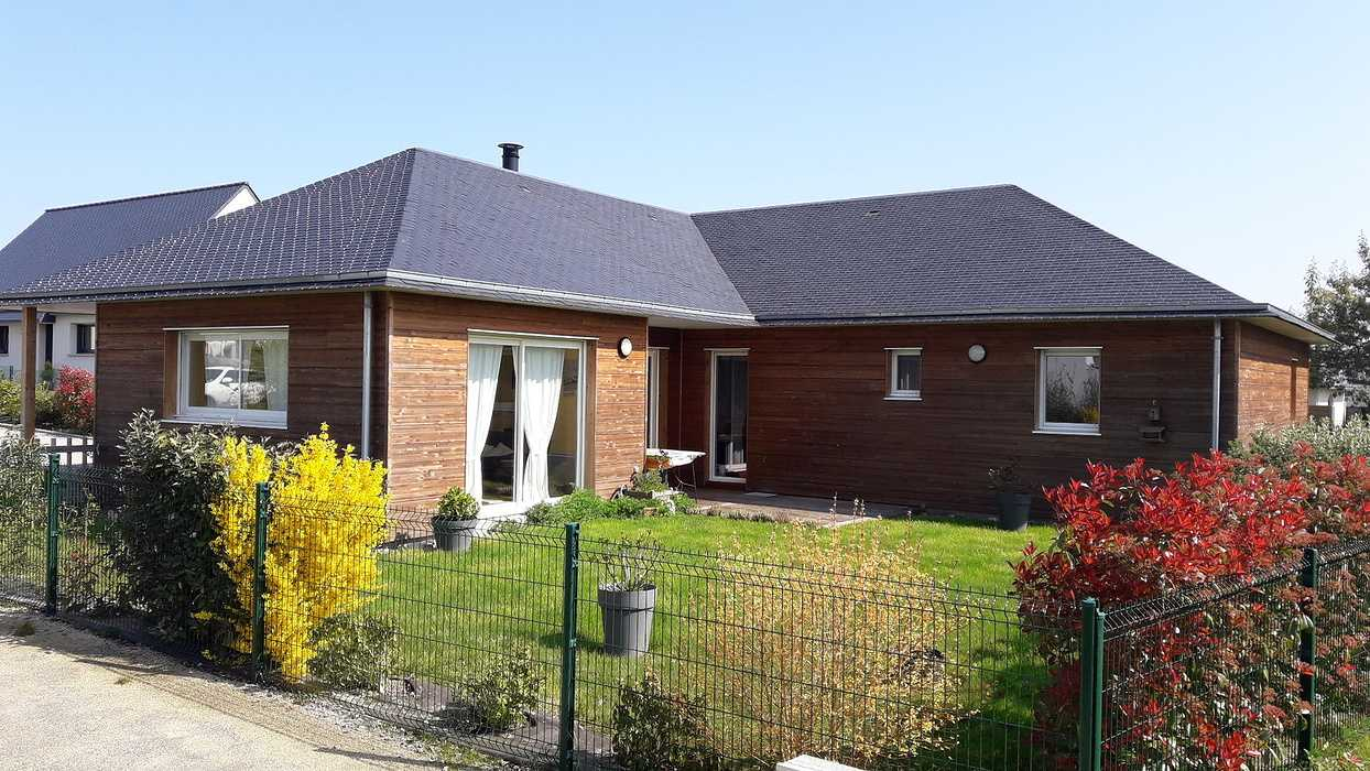 Maison ossature bois - Bardage Douglas - Matignon 0