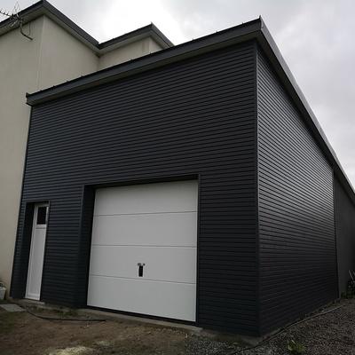 Agrandissement d''un garage en ossature bois à Hénanbihen