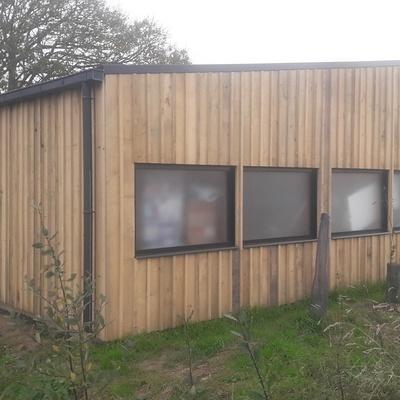 Création d''un garage en ossature bois à Hénanbihen