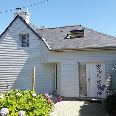 Extension bois, pose de fenêtres et porte d''entrée - Saint-Cast