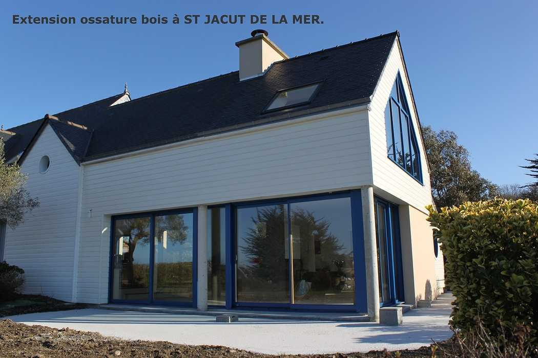 Extension ossature bois - Saint Jacut de la Mer 0