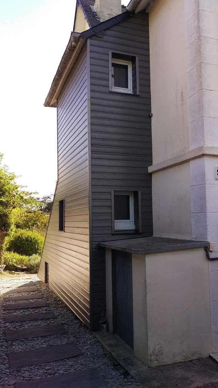 Bardage isolation thermique bois coloris métal - St Cast le Guildo 0