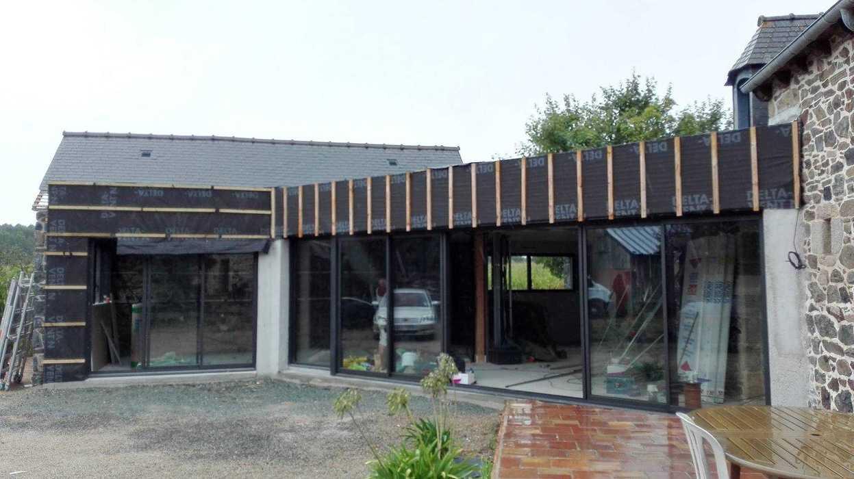 Extension en bois d''une maison d''habitation en pierre - Pléboulle 1425810411060933594574287331326397185270767o