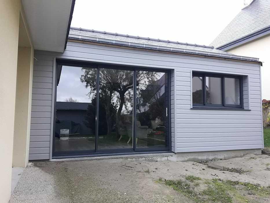 Extension ossature bois de 25 m2 - Ploubalay 0