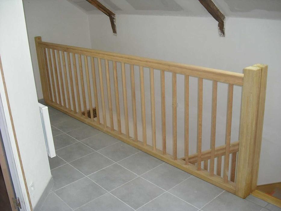 Escalier traditionnel bois exotique e4-1