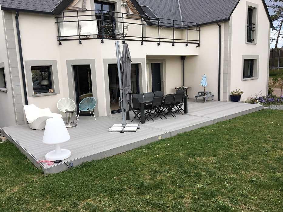 Terrasse composite à Saint-Cast le Guildo 0
