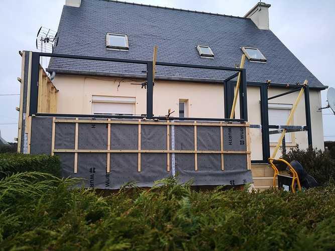 Installation d''une véranda à Matignon img20200124172544