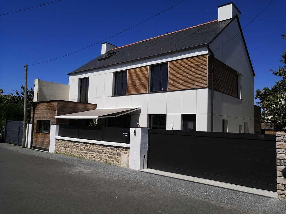 Clôture et portail en aluminium à Pléneuf Val André 0
