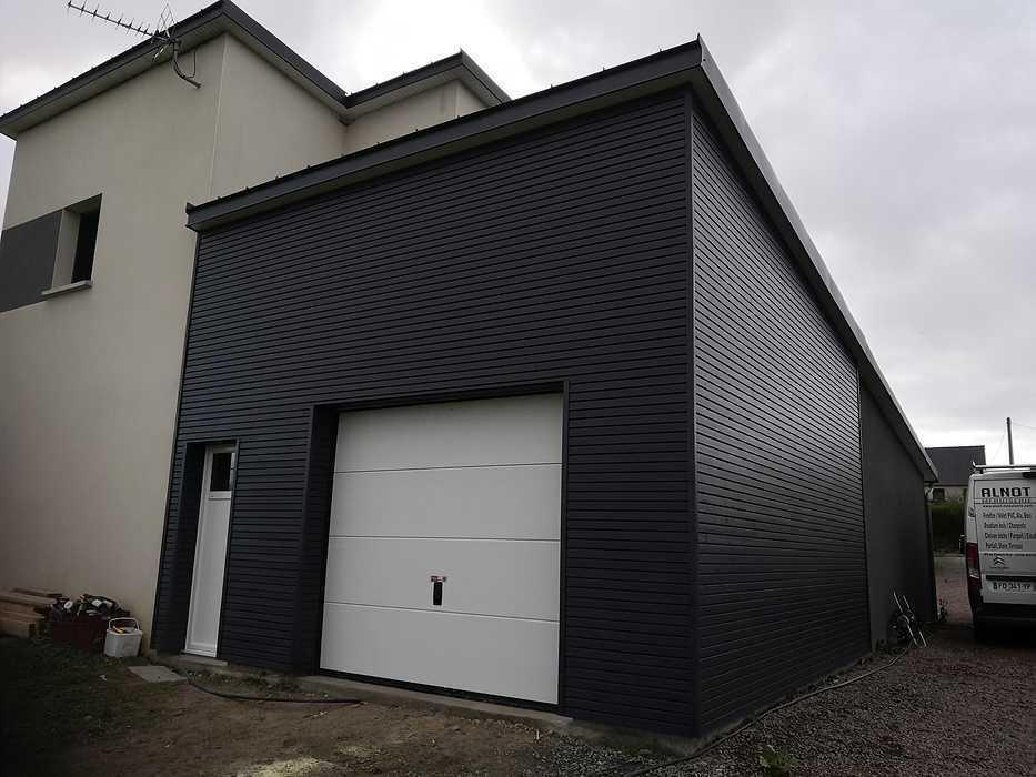 Agrandissement d''un garage en ossature bois à Hénanbihen 0